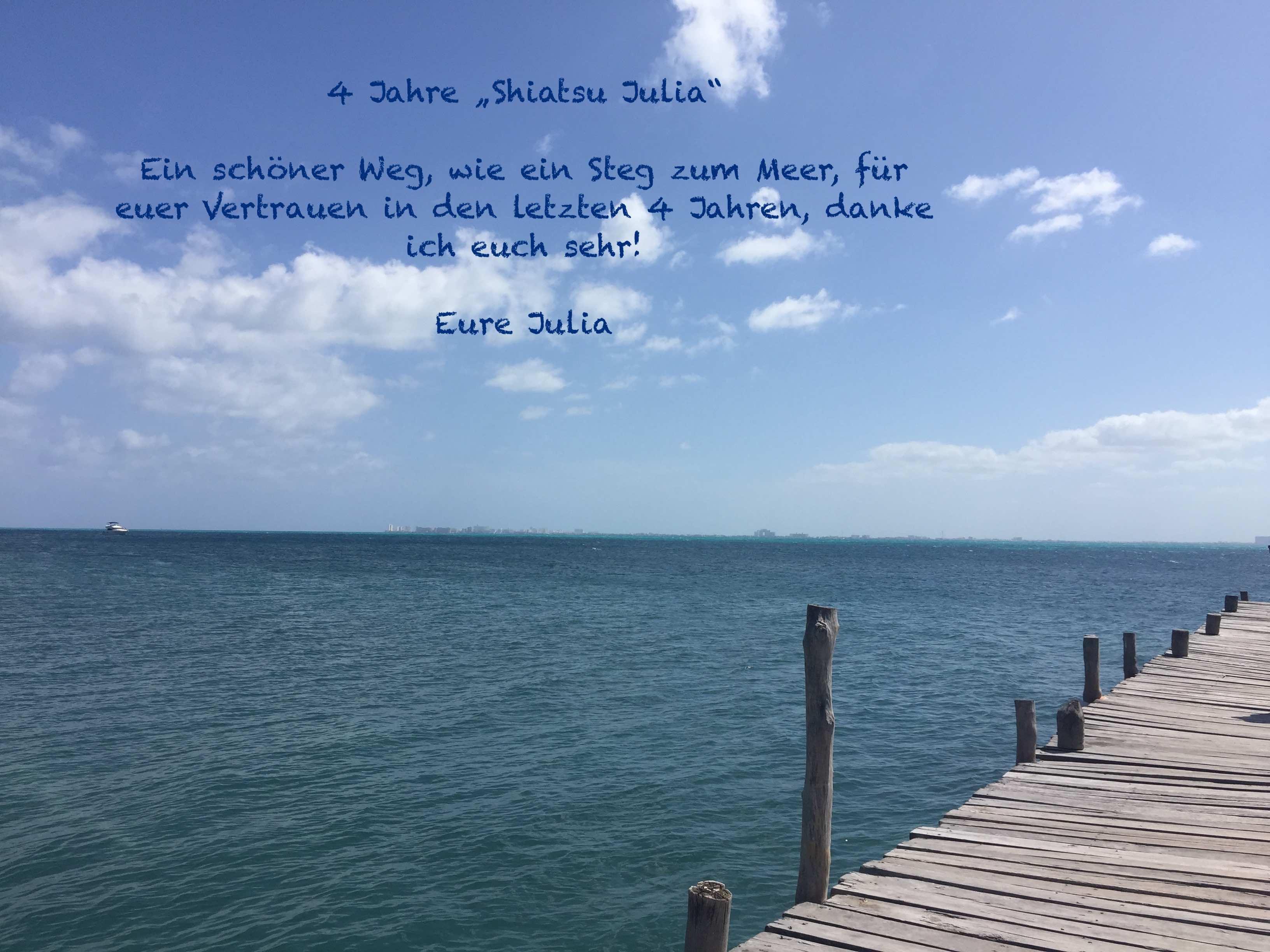 4 Jahre Shiatsu Julia – Dankeschön!